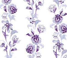 Purple border floral